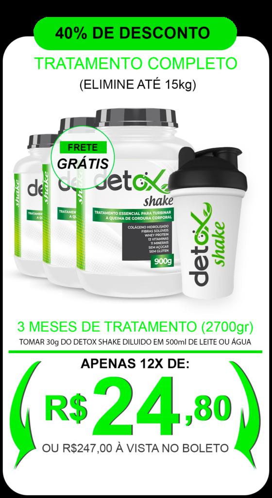 detox shake sabor